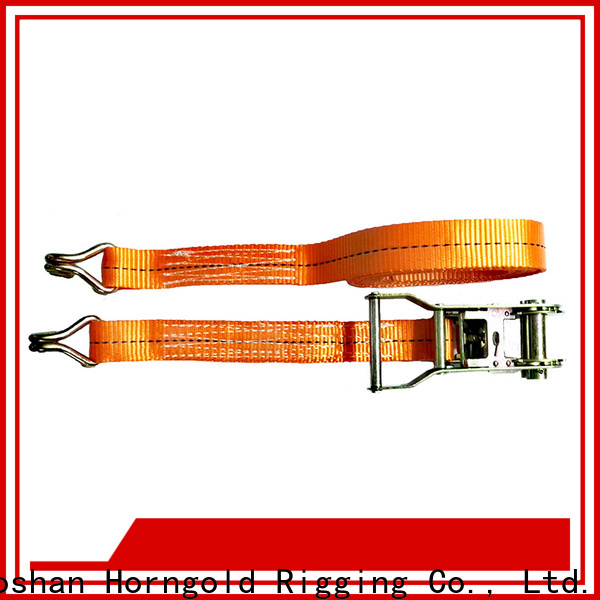 Latest ratchet straps with safety hooks two suppliers for lashing