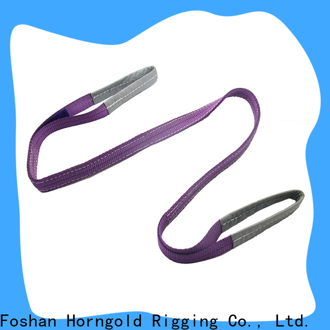 Top double ply webbing sling sling supply for lashing
