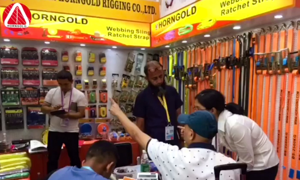 In 126th Canton Fair Attracted Ratchet Tie Down Customers